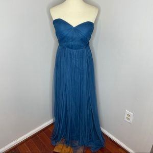 Jenny Yoo Annabelle Bridesmaid Dress Lapis Blue 12